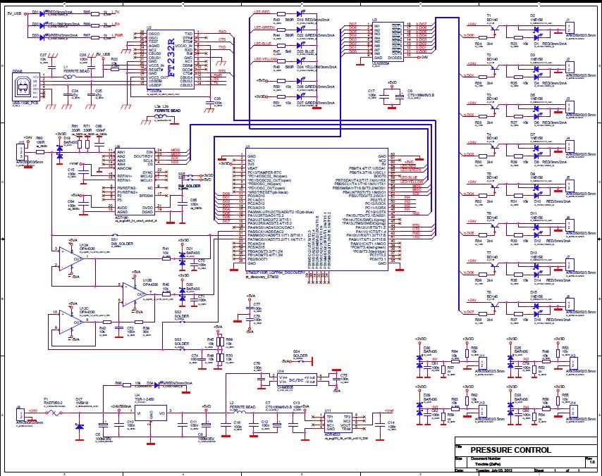 Tlakovacka schema board